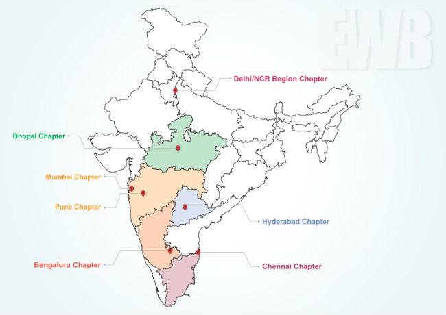Professional Chapters map