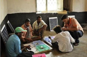 Training Villagers for maintaining and sustaining the Charging units and Solar Panels